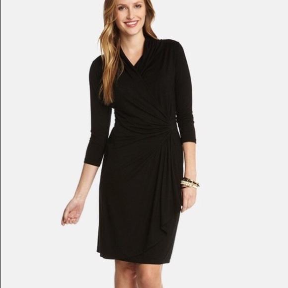 Karen Kane Dresses Cascade Faux Wrap Dress Poshmark
